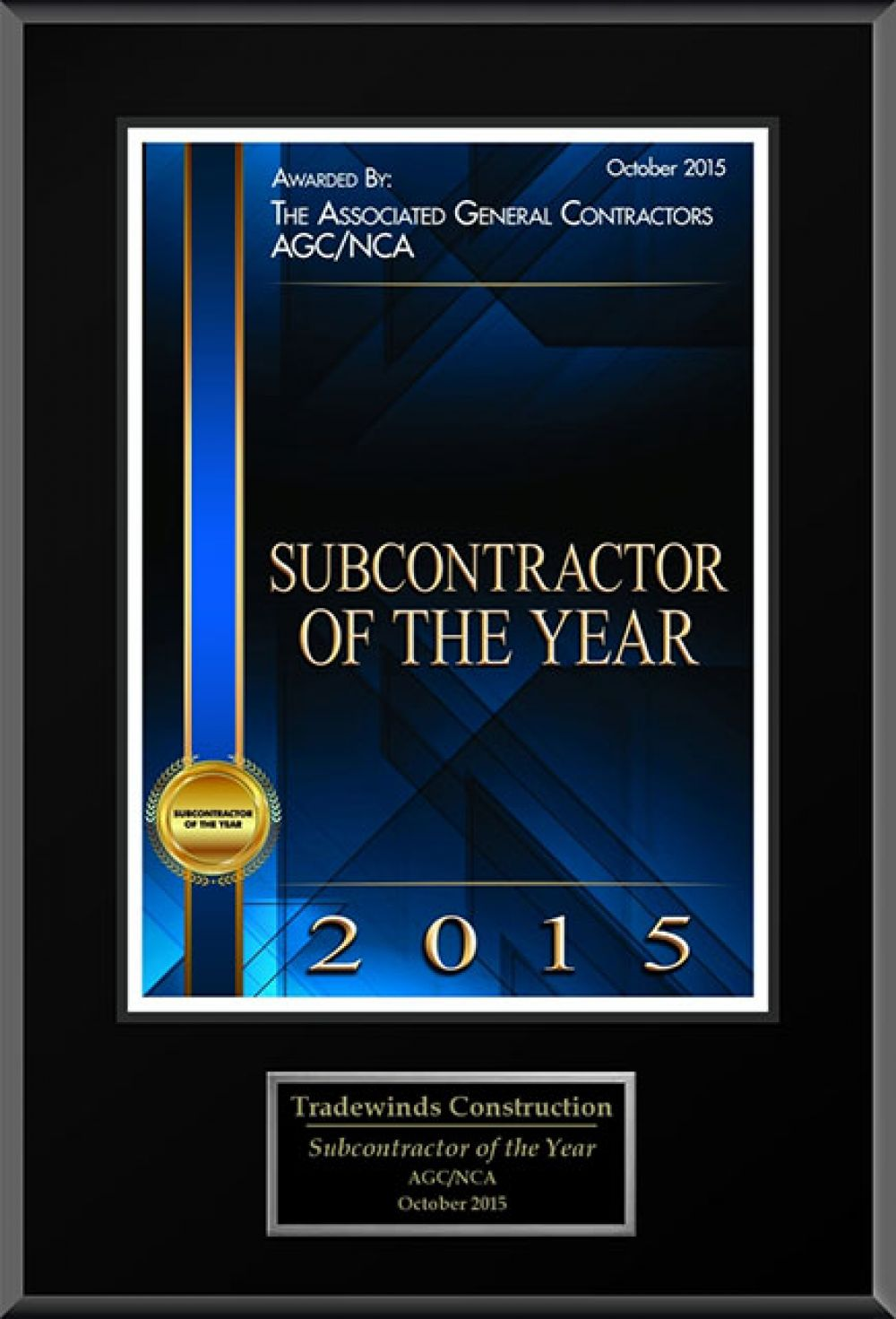 2015 Subcontractor Of The Year
