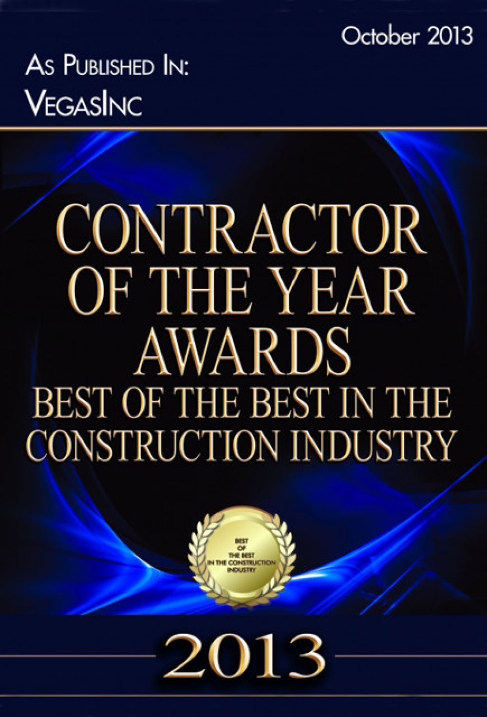 Contractor of The Year 2013