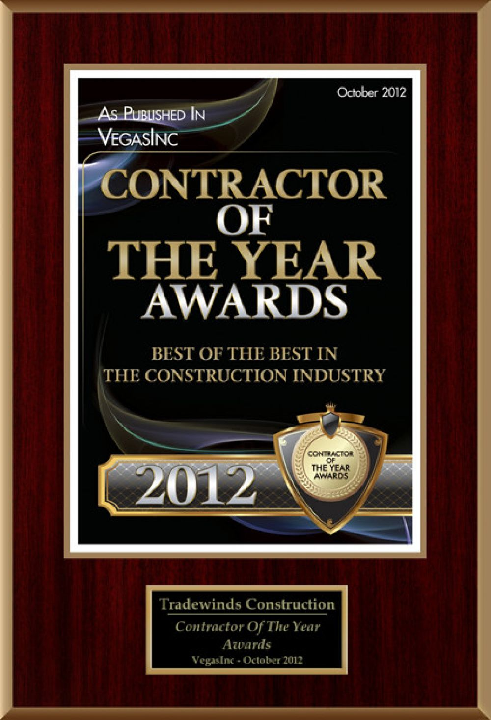 Contractor Of The Year 2012