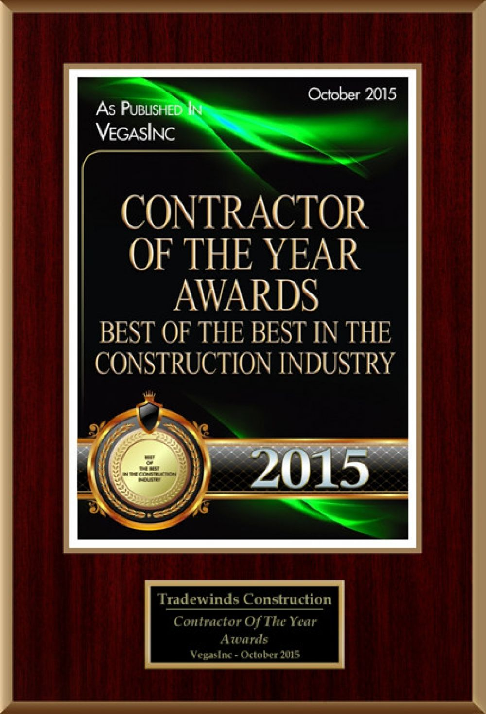 Contractor Of The Year 2015
