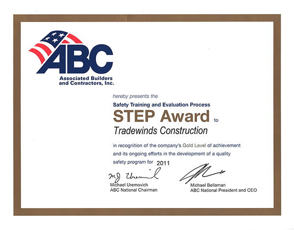 ABC Safety Award 2011