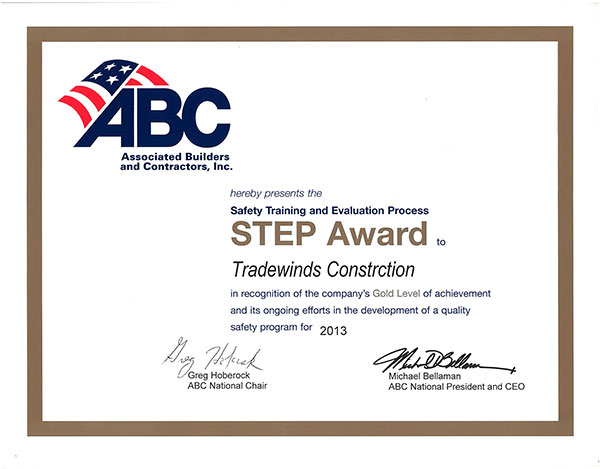 ABC Safety Award 2013