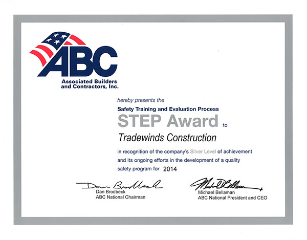 ABC Safety Award 2014